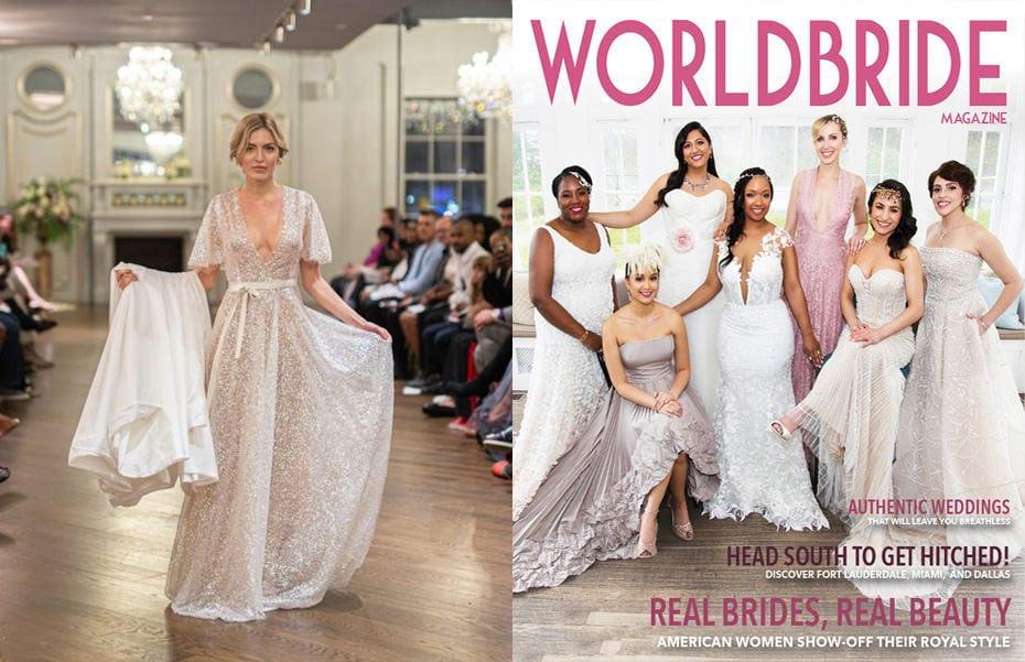 Hair & Makeup Artist for New York Bridal Fashion Week - Designers Gisele & Simone - World Bride Magazine - Bridalgal